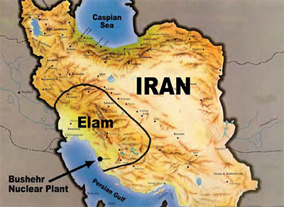 location of Elam within modern Iran