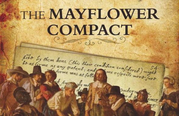 The Pilgrims Signing The Compact on board The May Flower on November 11, 1620